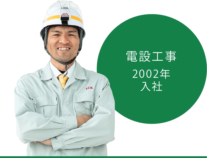 【電設工事部門】ベテラン 梅村勇作